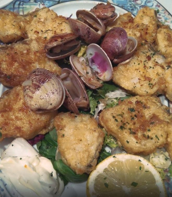 Delicias de Bacalao con almejas - Taberna ASturiana Zapico