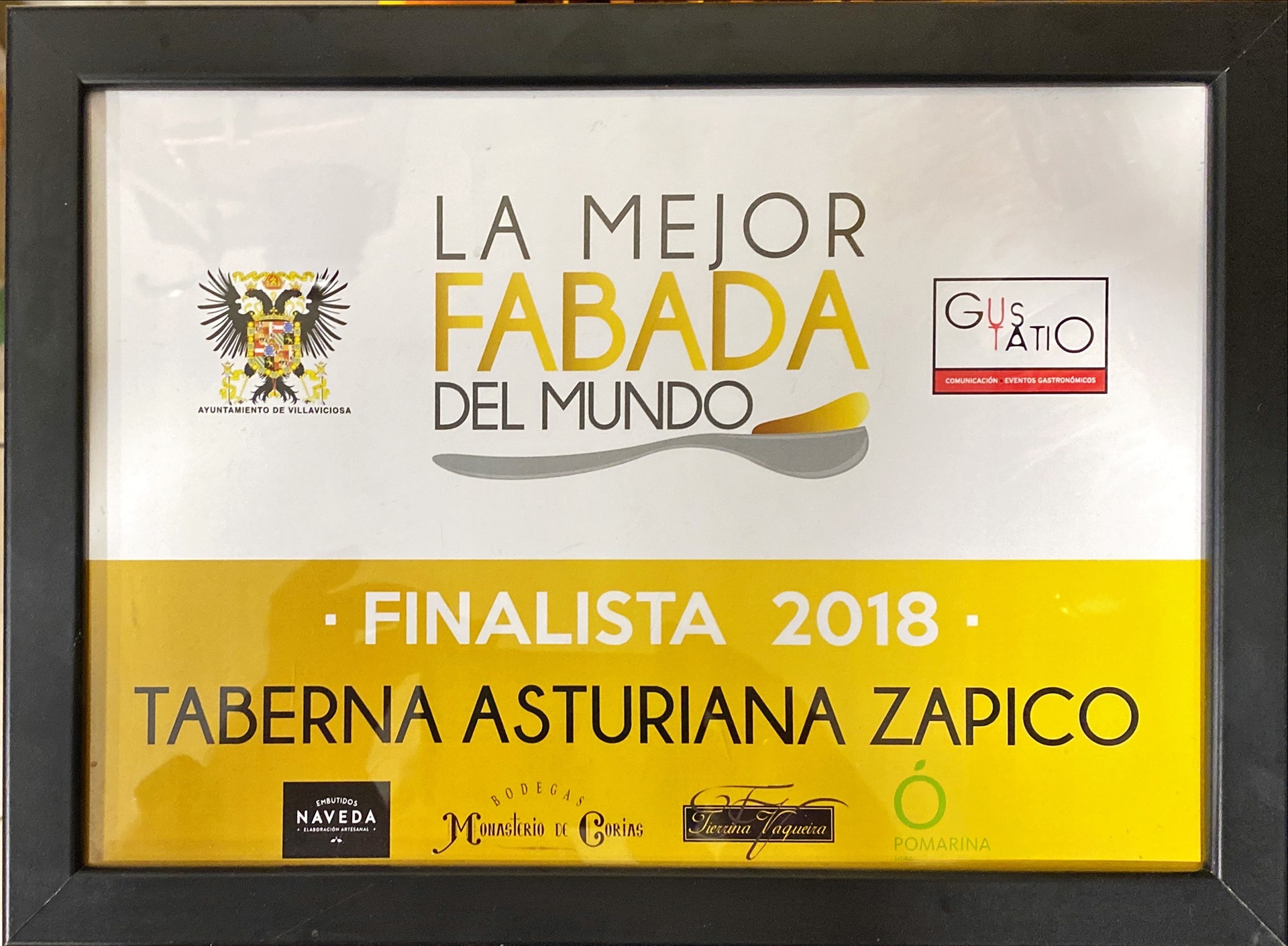 Finalista 2018 Mejor Fabada del Mundo Taberna Asturiana Zapico
