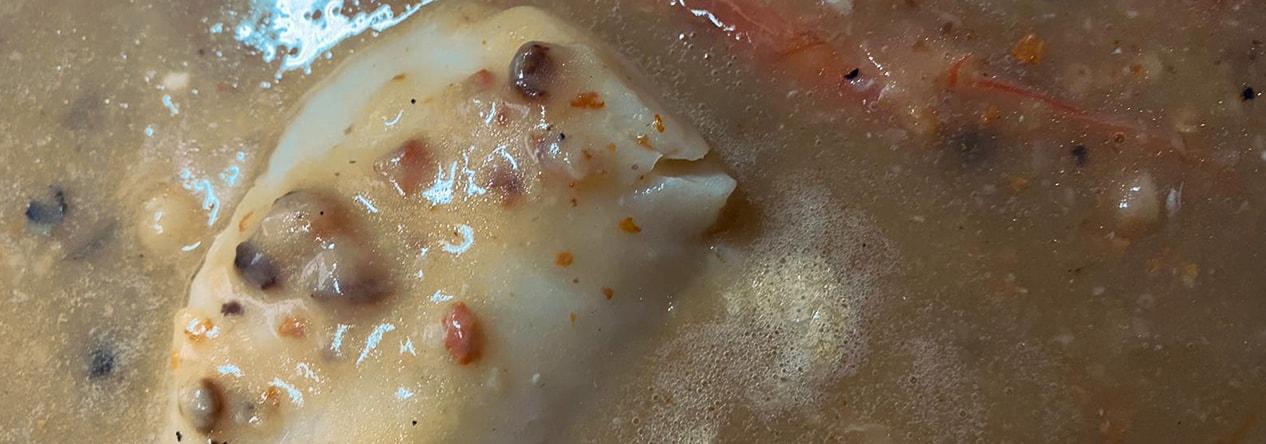 Bacalao en salsa de Oricios - Taberna Asturiana Zapico